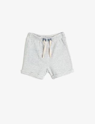 Koton Baby_Boy's Shorts mit Streifen Corduroy