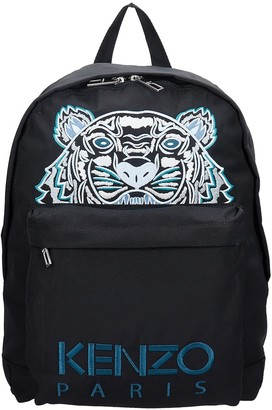 Kenzo Backpack In Black Canvas