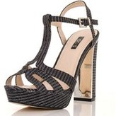Dorothy Perkins Womens *Quiz Grey Block Heel Sandals- Grey