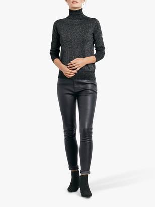 Hush Leather Jeans, Black