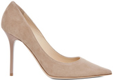 Jimmy Choo Abel Suede Pumps in Neutrals.