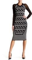 Rachel Roy Mixed Geo Fit Sweater Dress