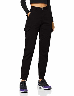 Urban Classics Women's Ladies High Waist Cargo Pants Trouser