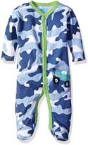 Bon Bebe Boys' Footed Coverall with Applique