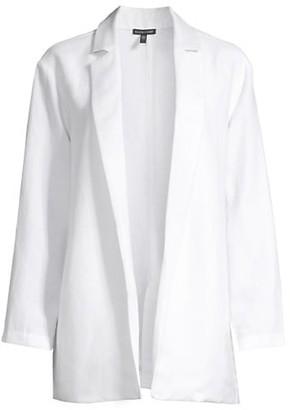 Eileen Fisher Notch Collar Open-Front Blazer