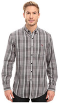 U.S. Polo Assn. Long Sleeve Classic Fit Plaid Peached Twill Button Down Sport Shirt