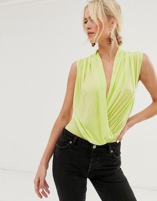 UNIQUE21 neon drape bodysuit