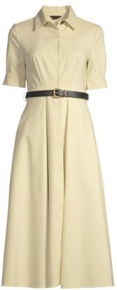 Donna Karan Belted Fit-&-Flare Dress