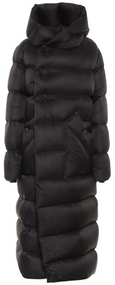 Rick Owens Long Liner quilted down coat