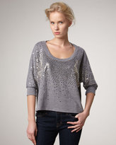 Splendid Holiday Sequined Pullover