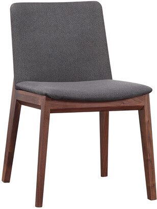 Moe's Home Collection Set Of 2 Deco Dining Chair Grey