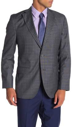 David Donahue Arnold Check Two Button Notch Lapel Wool Suit Separates Jacket