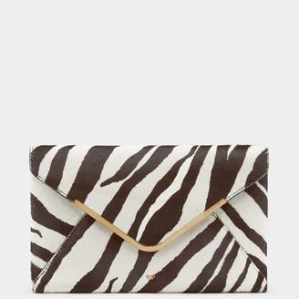 Anya Hindmarch Zebra Print Postbox Clutch