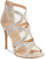 Thalia Sodi Fabiaa Mesh Caged Evening Sandals, Only at Macy's