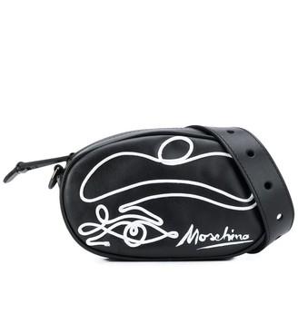 Moschino Round Leather Belt Bag