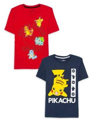 Pokemon PokMon Boys 4-18 Pikachu with Friends Graphic T-Shirt, 2-Pack