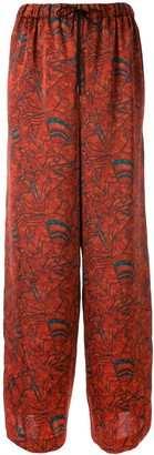 Muller of Yoshio Kubo Muller Of Yoshiokubo printed wide leg trousers
