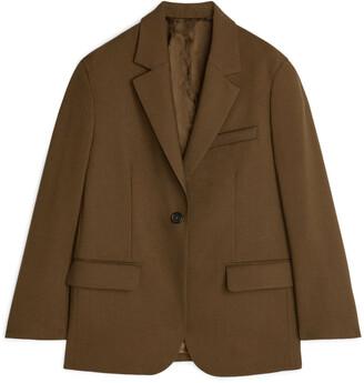 Arket Oversized Wool Hopsack Blazer