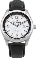 Ben Sherman Men's 'The Sugarman Social' Quartz Stainless Steel and Leather Casual Watch, Color:Black (Model: WBS106WB)
