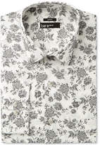 Bar III Men's Slim-Fit Stretch Mistic Grey Rose Print Dress Shirt, Only at Macy's