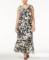 NY Collection Plus Size Tie-Strap Maxi Dress