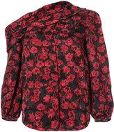 Saloni off-shoulder floral print blouse