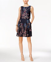 Ivanka Trump Floral Popover Fit & Flare Dress
