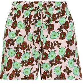 Sandro Luciano Floral-print Crepe Shorts