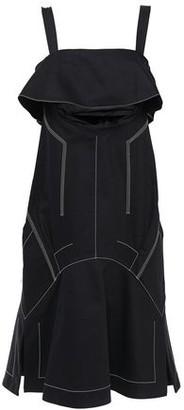 Proenza Schouler Cutout Ruffled Denim Midi Dress