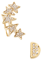 Rebecca Minkoff Mismatched Star Cluster Ear Climber & Moon Stud Earring