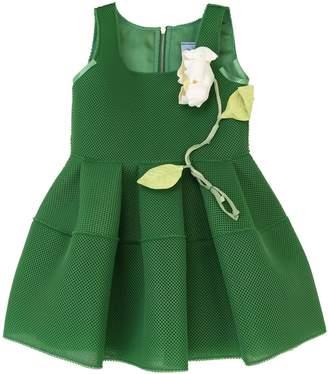 Mimisol Mesh Effect Neoprene Dress W/ Flower