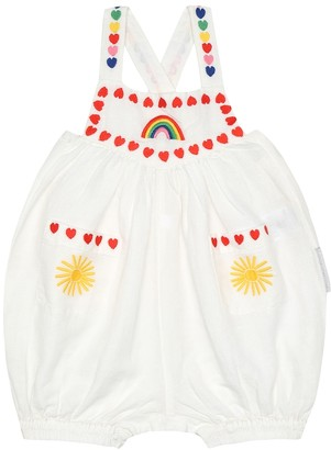 Stella McCartney Baby embroidered linen-blend overalls