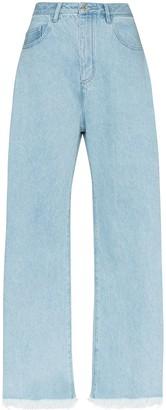 Marques Almeida Mid-Rise Wide-Leg Jeans