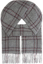 Johnstons Donegal Checked Cashmere Scarf
