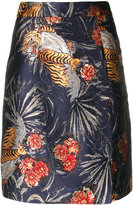 P.A.R.O.S.H. tiger print skirt