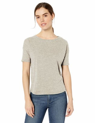 Daily Ritual Amazon Brand Women's Lightweight Lived-In Cotton Short-Sleeve Drop-Shoulder T-Shirt