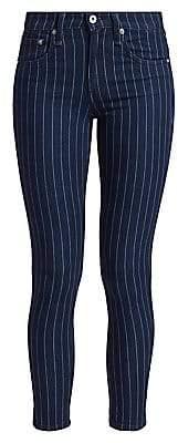 Rag & Bone Women's Cate Mid-Rise Ankle Skinny Pinstripe Jeans