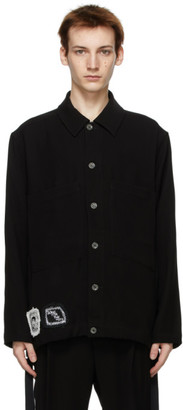 Song For The Mute Black Cat Patch Pocket Jacket
