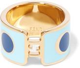 Fendi Gold-tone and enamel ring