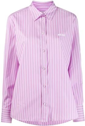MSGM Striped 'futuro' Shirt