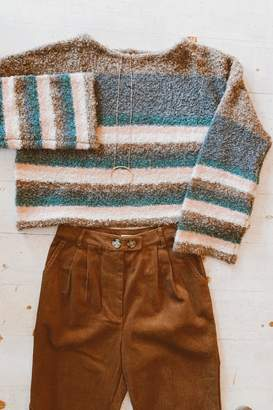 Mustard Seed Striped Box Sweater