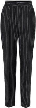 Dolce & Gabbana Pinstripe high-rise wool-blend pants