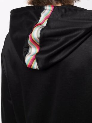 Paul Smith Zip-Up Stripe-Detail Hoodie
