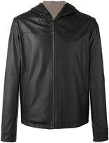 Loro Piana Hooded reversible jacket - men - Calf Leather/Polyamide/Spandex/Elastane - XL