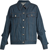 Maison Margiela Ruffle-sleeve denim jacket