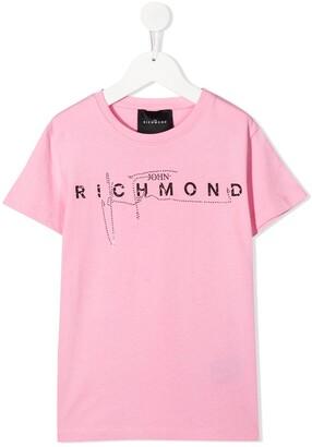 John Richmond Junior short sleeved logo T-shirt
