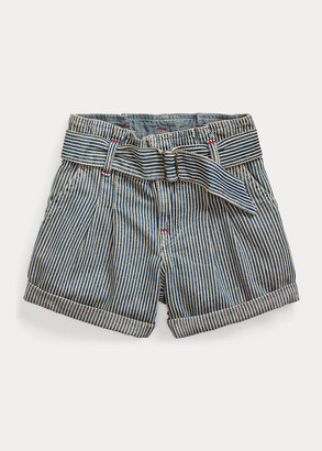 Ralph Lauren Belted Cotton Paperbag Short