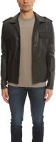 Simon Spurr Lamb Leather Military Jacket