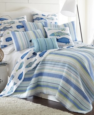 Levtex Catalina Coastal Print Reversible King Quilt Set