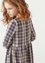 MANGO KIDS Two-Pocket Check Dress